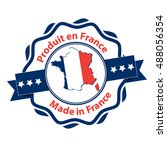 made in france  french and... | Shutterstock .eps vector #488056354