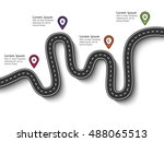 road trip and journey route.... | Shutterstock .eps vector #488065513