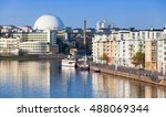 cityscape with modern living... | Shutterstock . vector #488069344