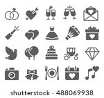 wedding web icon set | Shutterstock .eps vector #488069938