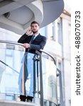 attractive business man is...   Shutterstock . vector #488070733