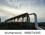 the pipe and valve oil fields | Shutterstock . vector #488076340