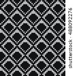 knitted seamless pattern scales | Shutterstock .eps vector #488092276
