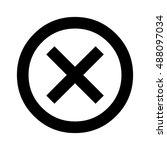 delete icon. cross sign in...