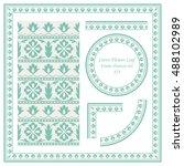 vintage border pattern 433... | Shutterstock .eps vector #488102989