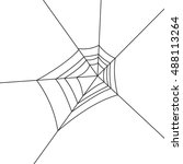 monochrome icon with spider web | Shutterstock .eps vector #488113264