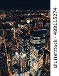 rooftop night view of new york... | Shutterstock . vector #488115274