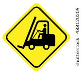 fork lift trucks sign | Shutterstock .eps vector #488120209