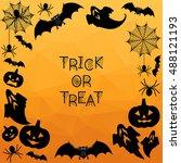 halloween background. trick or... | Shutterstock .eps vector #488121193