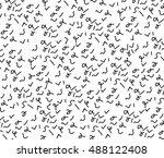 geometric pattern with black... | Shutterstock . vector #488122408