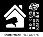 terrible house icon with bonus... | Shutterstock .eps vector #488130478