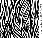 vector abstract doodle hand... | Shutterstock .eps vector #488134624