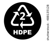 recycling symbols for plastic... | Shutterstock .eps vector #488135128