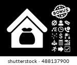 harvest warehouse pictograph... | Shutterstock .eps vector #488137900