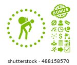 porter icon with bonus icon set.... | Shutterstock .eps vector #488158570