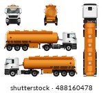 truck trailer vector template... | Shutterstock .eps vector #488160478