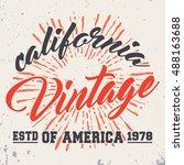 t shirt print design.... | Shutterstock .eps vector #488163688