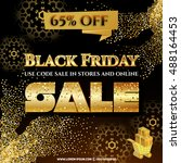 black friday sale with discount ... | Shutterstock .eps vector #488164453