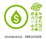 money drop icon with bonus... | Shutterstock .eps vector #488165608