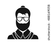 hipsster man icon in simple... | Shutterstock .eps vector #488169058