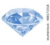 realistic shining white diamond ... | Shutterstock .eps vector #488171518