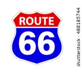 route 66 sign . vector... | Shutterstock .eps vector #488185744