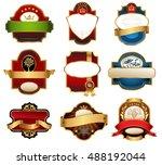 vector luxury labels | Shutterstock .eps vector #488192044