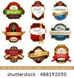 vector luxury labels | Shutterstock .eps vector #488192050