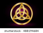 triquetra symbol   vector... | Shutterstock .eps vector #488194684