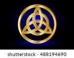 triquetra symbol   vector... | Shutterstock .eps vector #488194690