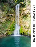 lisine waterfall called veliki... | Shutterstock . vector #488195884