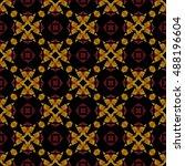 a geometric texture. boho chic... | Shutterstock .eps vector #488196604