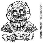 emblem custom culture with... | Shutterstock .eps vector #488200954