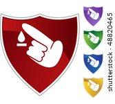 diabetes test icon set | Shutterstock .eps vector #48820465