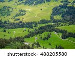 wide angle panoramic view on... | Shutterstock . vector #488205580