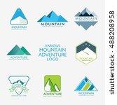vector illustration of mountain ... | Shutterstock .eps vector #488208958