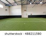 indoor soccer or football field | Shutterstock . vector #488211580