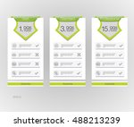 price list. three tariffs... | Shutterstock .eps vector #488213239