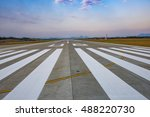 runway  airstrip in the airport ... | Shutterstock . vector #488220730