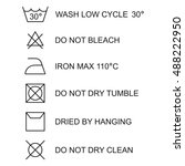 laundry symbols  icon set ... | Shutterstock .eps vector #488222950