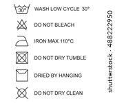 laundry symbols  icon set ...   Shutterstock .eps vector #488222950