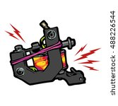 tattoo machine vector art. | Shutterstock .eps vector #488226544