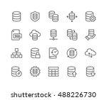 simple set of database related... | Shutterstock .eps vector #488226730