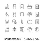 simple set of fridge related... | Shutterstock .eps vector #488226733