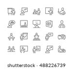 simple set of business... | Shutterstock .eps vector #488226739