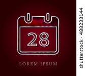 28th calendar red crystal ruby...