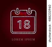 18th calendar red crystal ruby...
