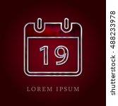 19th calendar red crystal ruby...