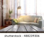 empty tabletop. 3d rendering | Shutterstock . vector #488239306
