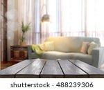 empty tabletop. 3d rendering | Shutterstock . vector #488239306
